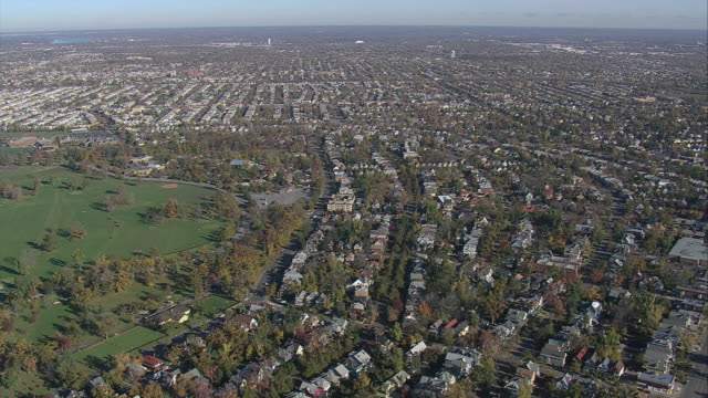 aerial mostly residential area of buffalo / buffalo, new york, united states - buffalo new york state stock videos & royalty-free footage