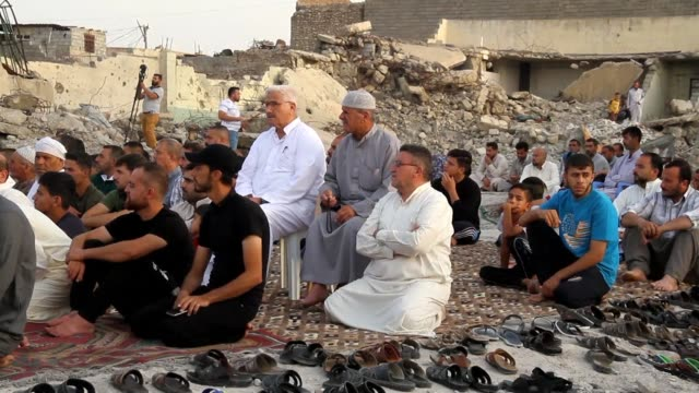mosul residents celebrate eid alfitr which marks the end of the holy month of ramadan the first since the defeat of the islamic state group last july - eid ul fitr stock videos & royalty-free footage