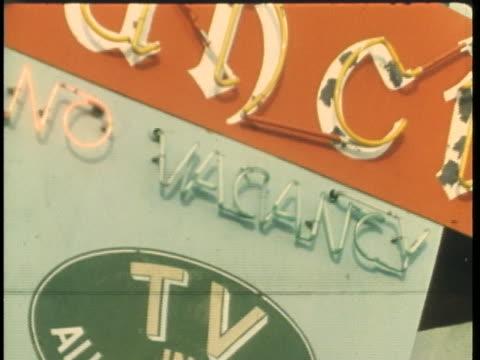 motels in monterey, california have no vacancy due to the pop festival. - popmusik konzert stock-videos und b-roll-filmmaterial