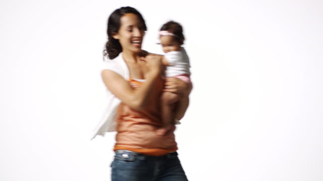 mother and baby dancing - polynesian ethnicity stock videos & royalty-free footage