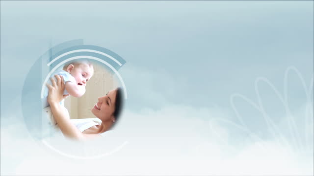 mother and child montage - composite image stock videos & royalty-free footage