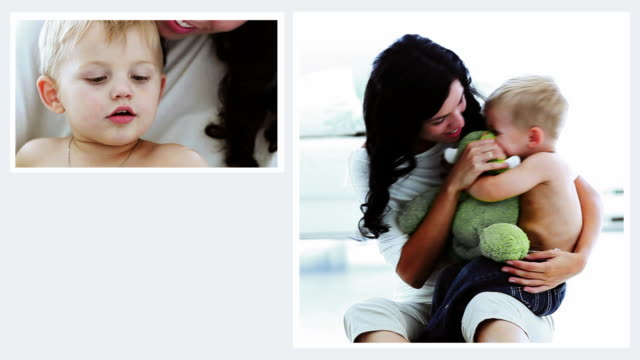 mother and child montage - multiple image stock videos & royalty-free footage