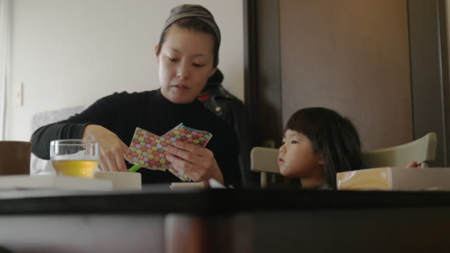 mother and daughter at home. - only japanese stock videos & royalty-free footage