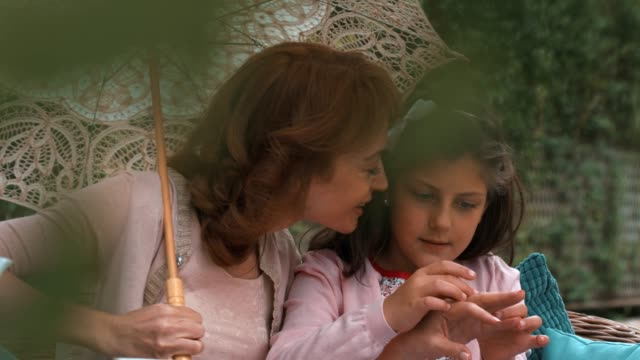 mother and daughter bonding - mother daughter kiss stock videos & royalty-free footage