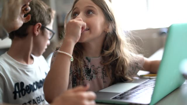 mother and daughter discussion at homework time - homework stock videos & royalty-free footage