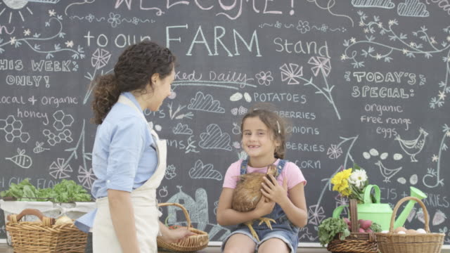 Mother and Daughter Farm Stand