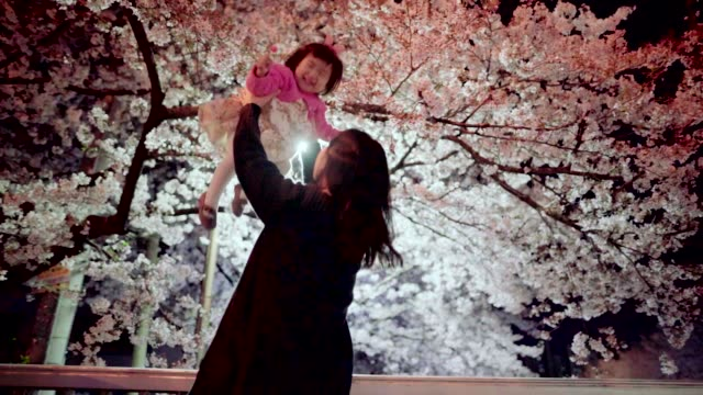 mother and daughter in spring riverside - korean ethnicity stock videos & royalty-free footage