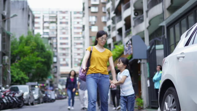 mother and daughter in the city - taipei stock videos & royalty-free footage
