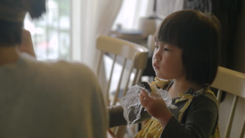 mother and daughter in the room. - only japanese stock videos & royalty-free footage