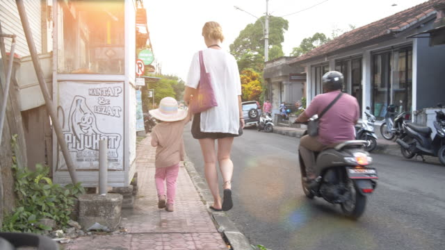 mother and daughter in ubud - indonesian culture stock videos & royalty-free footage