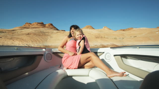 mother and daughter on a boat - peruvian ethnicity stock videos & royalty-free footage