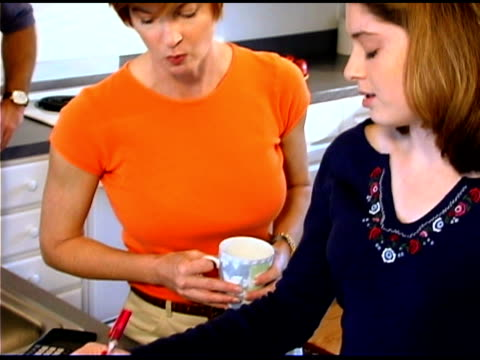 mother and daughter talking - see other clips from this shoot 1335 stock videos and b-roll footage