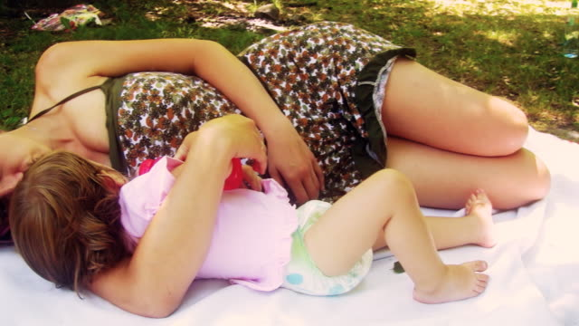hd: mother and daughter - nappy stock videos & royalty-free footage