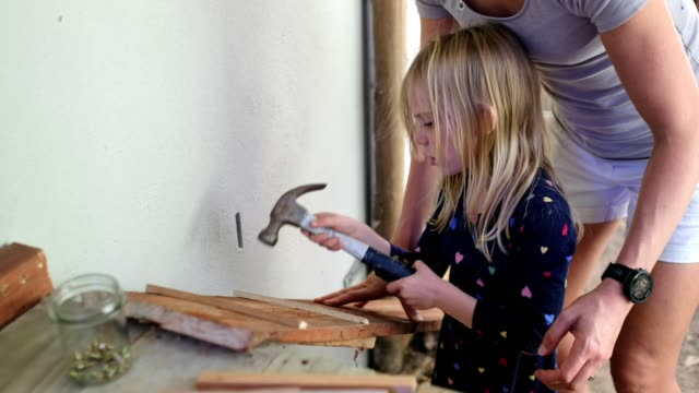 mother and her daughter enjoy a diy project - diy stock videos & royalty-free footage
