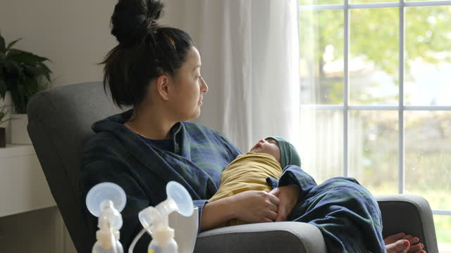 mother and her newborn - postpartum depression stock videos & royalty-free footage