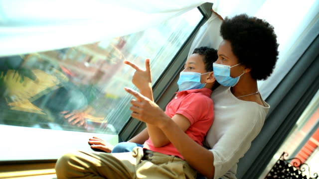 mother and son in pandemic quarantine. - pandemic illness stock videos & royalty-free footage