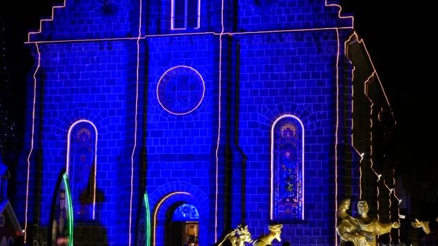グラマドの母教会,リオグランデ・ド・スル・アット・ナイト - リオグランデドスル州点の映像素材/bロール