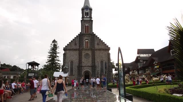 母教会 グラマド,リオグランデ・ド・スル - リオグランデドスル州点の映像素材/bロール