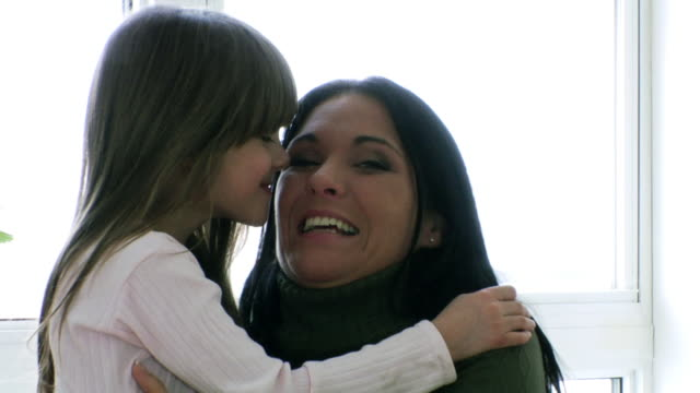 mother day kiss - mother and daughter making out stock videos & royalty-free footage