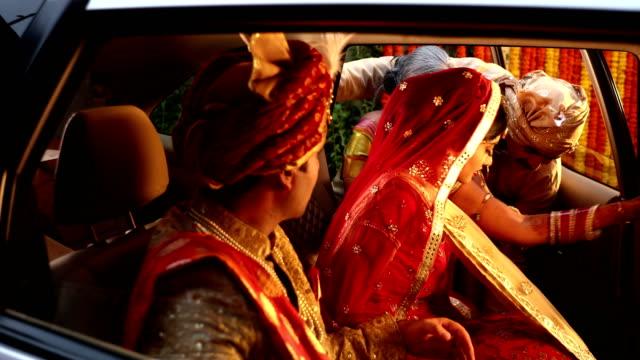 mother loving her daughter at vidai, delhi, india - sari stock videos and b-roll footage