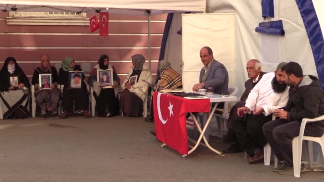 mother necibe ciftci joins the ongoing sitin protest in front of the provincial office of the peoples' democratic party in diyarbakir southeastern... - 16 17 years stock videos & royalty-free footage
