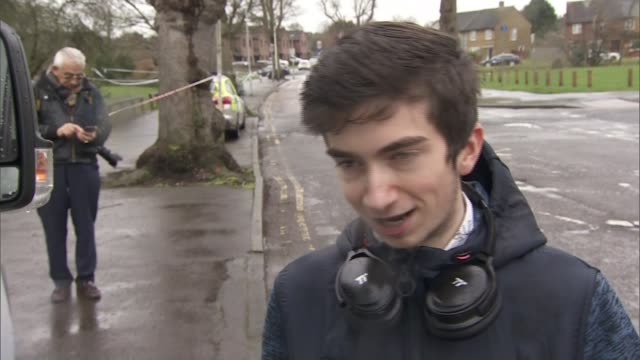 mother of 17yearold who was fatally stabbed in harold hill pays tribute england london havering romford harold hill ext friends looking at flowers... - itv weekend evening news点の映像素材/bロール