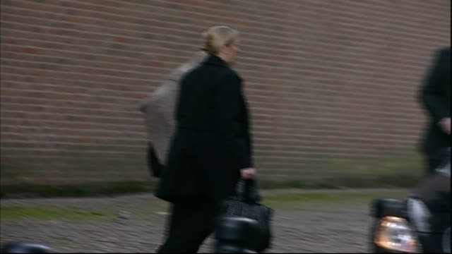 stockvideo's en b-roll-footage met mother of raoul moat's former girlfriend gives evidence at trial england tyne and wear newcastle crown court ext lesley stobbart along from court to... - tyne and wear