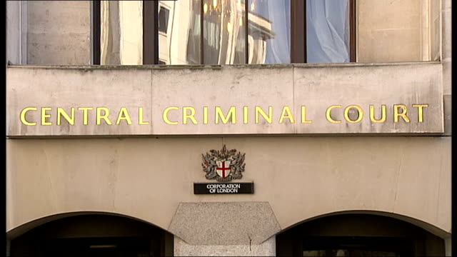 mother pleads guilty to manslaughter while suffering post-natal depression; old bailey: 'central criminal court' sign low angle view old bailey... - postpartum depression stock videos & royalty-free footage