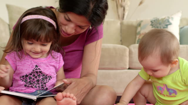 Mother Reading to 2 year old Daughter