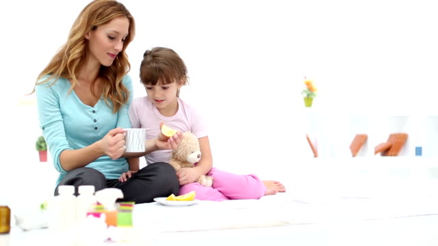 hd: mother taking care about sick child - nutritional supplement stock videos and b-roll footage