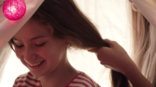 mother tied bow her daughter's hair - tied bow stock videos & royalty-free footage