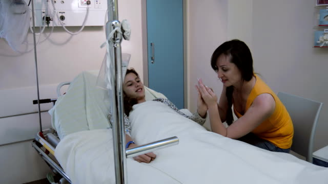 Teenage Girl In Hospital Bed Videos And B-Roll Footage -7598