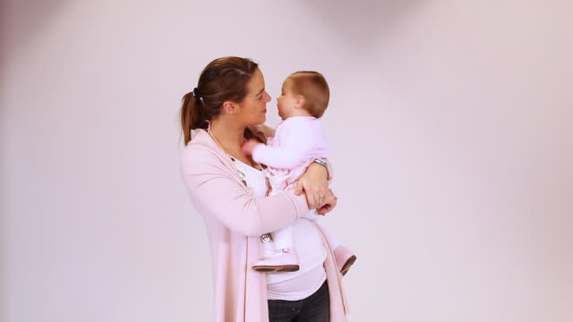 ms mother with baby boy (2-5 months) in studio / brussels, belgium - 2 5 months stock videos & royalty-free footage