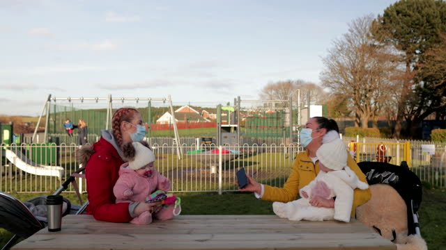mothers at the park - baby girls stock videos & royalty-free footage