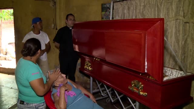 mothers friends and relatives of three men killed in the indigenous sutiaba area of leon nicaragua by security forces loyal to president daniel... - nicaragua stock videos & royalty-free footage