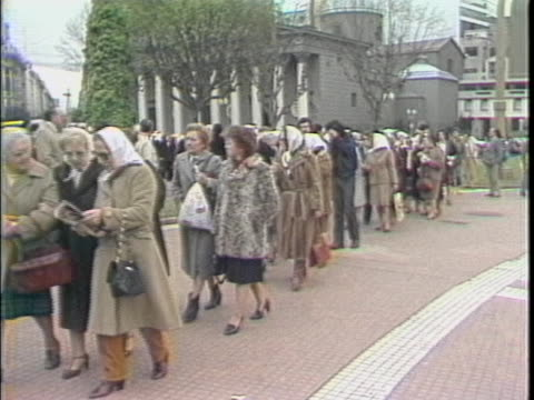 mothers of the plaza de mayo group walking through plaza - argentina stock videos & royalty-free footage