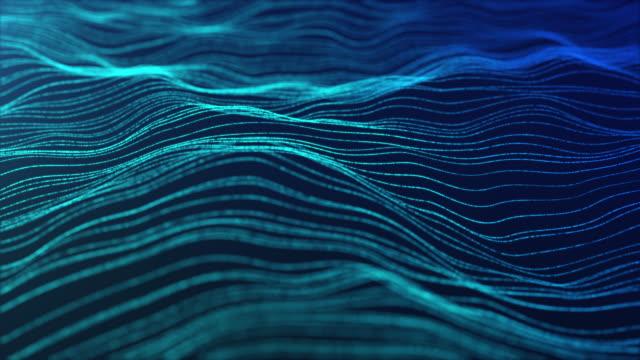 stockvideo's en b-roll-footage met motion abstract achtergrond, abstract wave lijn infinite loop voor business wetenschap en technologie - koord