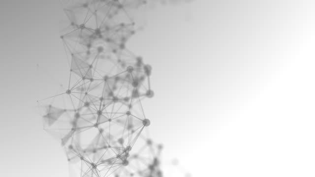 motion abstrakte hintergrund, polygon und linie verbinden sich mit punkt hintergrund für business science und technologie, schwarz und weiß hintergrund - form stock-videos und b-roll-filmmaterial