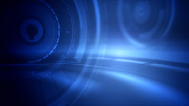 Motion Background Loop - Blue Discs (HD 1080)