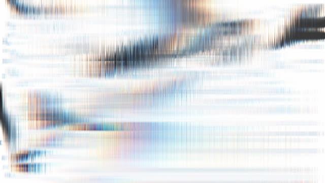 モーションブラーの背景。グランジ細い線を移動する抽象ループ。ガラスの質感の模倣 - フラクタル点の映像素材/bロール