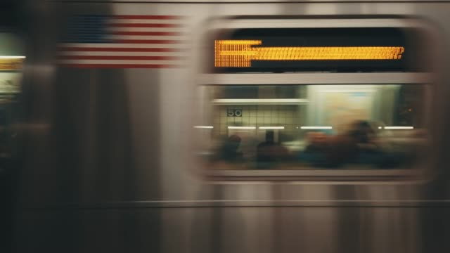 motion blurred subway - new york city stock videos & royalty-free footage