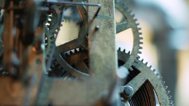 Motion control macro shot of clock mechanism