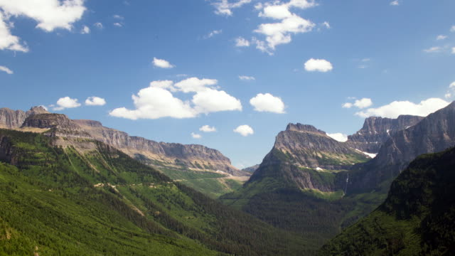 motion control time lapse of mountains in glacier national park - glacier national park us stock videos and b-roll footage