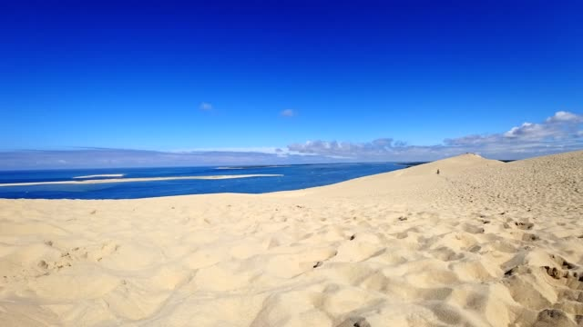 motion controlled time lapse: dune de pilat, france, in summer - dune of pilat stock videos and b-roll footage
