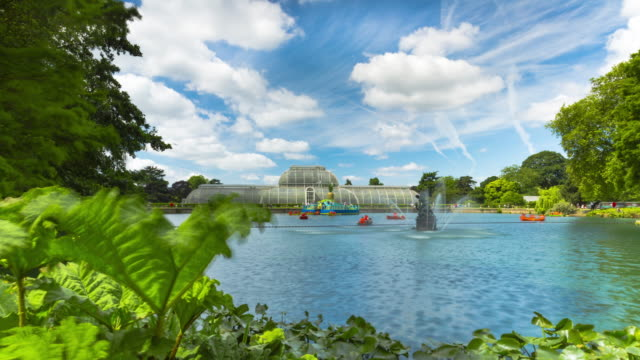 Motion controlled time lapse footage of the boating lake at Royal Botanic Gardens Kew in London.