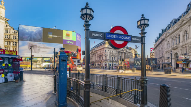 Motion controlled time lapse footage of the morning rush hour traffic in Piccadilly Circus in London