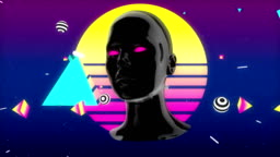 Motion Graphic Animation inspired by 80's aesthetics - Synthwave / Vaporwave / Retrowave style
