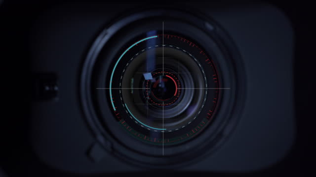 motion graphic focus the lens at the camera - photographer stock videos & royalty-free footage