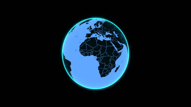 4K motion graphic globe loop animation