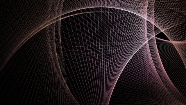 vidéos et rushes de fond géométrique de maille graphique de mouvement - courbe